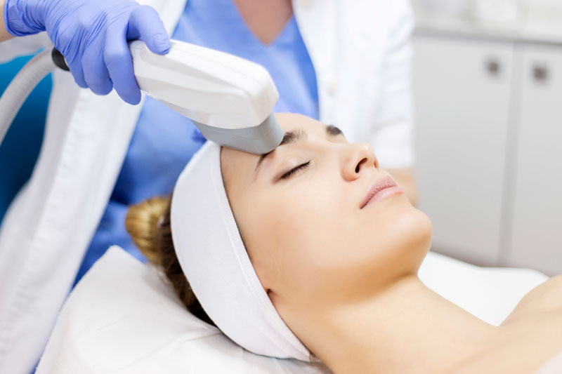 High Frequency Ultrasound Facial Treatment for Aging Skin & Acne
